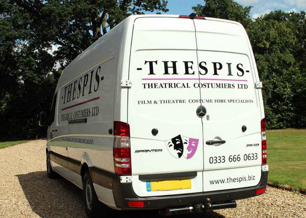 Thespis Delivery Van with Livery