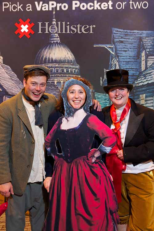 Hollister use Oliver Twist costumes supplied for corporate event. Period costume hire.